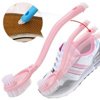 Горячая 1 шт. чистящие средства мыть кисти обувь двойной длинной ручкой кисти для мытья обуви щетка высокого качества