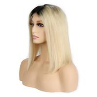 Cabelo Humano Loira Posse 1B 613 Bob Vrigin Renda Frente Gluless Remy para Mulheres Brancas Pretas Frete Grátis Seletor Natural