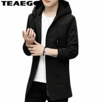 Erkek Ceketler Teaegg Erkekler Giysileri 2021 5XL Kapşonlu Siyah Artı Boyutu Erkek ve Mont İlkbahar Sonbahar Dış Giyim Rüzgarlık AL1259