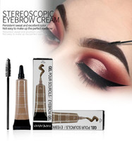 HANDAIYAN Eyebrow Gel Waterproof Black Brown Waterproof Liqu...