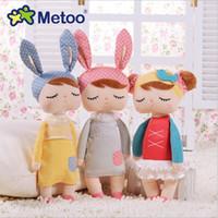 Metoo Peluş Bebek Sevimli Angela Bunny Tavşan Peluş Doldurulmuş Oyuncak Kızlar Güzel Hediye 13 inç 33 cm
