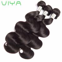 Şekil 9A,% 100 Peru insan saç gövdesi dalga 3 demetleri doğal siyahı ham bakire saç uzatma işlenmemiş