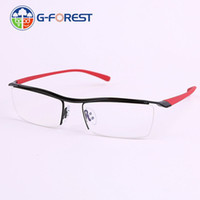 fashion glasses  optical frame High quality men's prescription eyeglasses eyebrow wireframe half rim Spectacles frame 8189