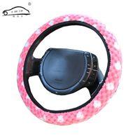 nuovi arrivi rosa Coperture del volante dell'automobile del cashmere dei fiocchi di neve / modo caldo inverno popolare copertura della rotella delle donne degli uomini della ragazza
