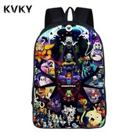 Anime Undertale Backpack For Teenagers Ragazzi Ragazze School Bags Sans Donna Uomo Borsa da viaggio Bambini Bookbag Shoulder Zaini regalo