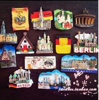 Avrupa Münih Almanya Berlin Turizm Sahne Anıt Buzdolabı Mıknatıs 3D Buzdolabı Mıknatısı Sticker Seyahat Hatıra Dekorasyon