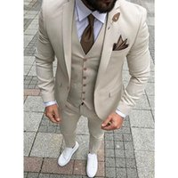Mens Suit with One Button Blazer Classic for Men Wedding Sui...