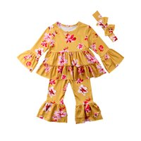 Summer 2018 Toddler Kid Baby Girl Clothes Set Floral Ruffle ...