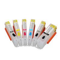 6 개 CLI-251 PGI-250 빈 리필 잉크 카트리지 캐논 PIXMA MG6320 MG7120 용 iP8720 MG7520 프린터 (ARC 칩 포함) pgi250 cli251