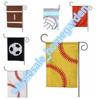 Sports Garden Flag Canvas Flag Printed Baseball Soccer Softb...