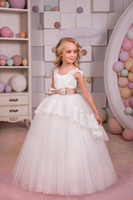 2018 New Style Ivory Girl Pageant Dresses Birthday Wedding P...