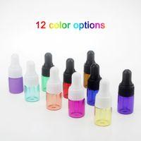 Petit clair flacons en verre E-liquide flacon compte-gouttes Dram Mini 1 ml / 2 ml / 3 ml Ambre Verre échantillon de Parfum Huile Essentielle e-jus Bouteille