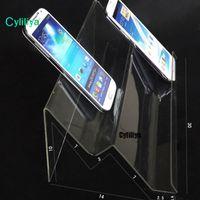 Sıcak satış Şeffaf Akrilik Çift katmanlı uzun raf Mobil cep telefonu standı evrensel için Çok amaçlı tipi standı