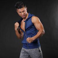 Marka Yeni Spor Salonları Hoodie Stringer Tank Top Erkek Yelek Spor Yelek Erkek Atlet Atlet Kolsuz Tişörtü