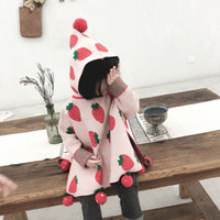 baby kids clothing coat long sleeve strawberry design hooded...
