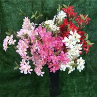 이벤트 웨딩 트리 인공 장식 꽃 줄기 가짜 꽃 사과 꽃 지점 베고니아 사과 나무