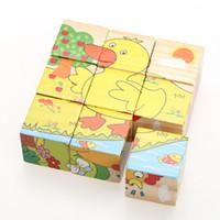 3D En Bois Six Côtés Jigsaw Puzzle Cartoon Puzzle Animal Tangram Conseil Enfants Enfants Éducatifs Développement Jouet