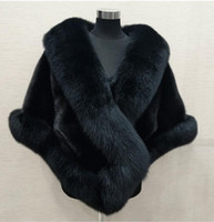 Winter 2019 Super Big long fox faux fur bridal Wraps evening...