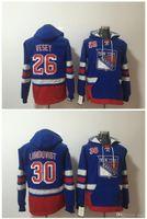 New York Rangers Hoodie 26 Jimmy Vesey NY 30 Henrik Lundqvist Hockey Jersey Pullover Sweatshirts Winterjacke Top Qualität! 100% genäht