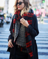 luxury brand designer scarf Autumn and winter popular plaid ...