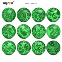 Luminous Buttons Animal Patterns 18mm Glass Snap Buttons 12p...