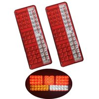 1 Pair Car LED Tail Lights Stop Warning Light Turn Signal La...