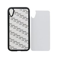 Custodia rigida in gomma per iPhone X XS XS MAX per iPhone XR 8 Custodia sublimatica 2D per iPhone 8R Plus con inserto in alluminio