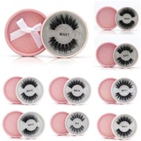 16 Styles 3D Faux Mink Eyelashes False Mink Eyelashes 3D Sil...