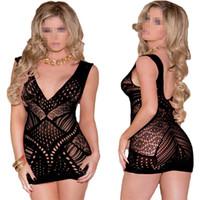 Новое прибытие сексуальные костюмы носить экзотическую одежду V шеи сексуальное платье выдалбливают открыть промежность плотно ажурные черное платье дамы сексуальное женское белье