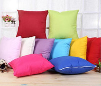 10 colori Home Sofa Throw Pillowcase Pure Colors Poliestere Bianco Cuscino Coprire Cuscino Decor Blank Pillow Case regalo di decorazioni natalizie