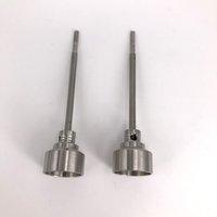 Evrensel Tabacco 2 IN 1 Titanyum Tırnak 18 / 20mm GR2 Titanyum Tırnak Carb Cap ile Dabber Aracı için Slicone Kavanoz balmumu Konteyner