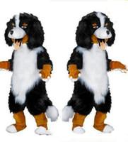 2018 venda Quente design Rápido Personalizado Branco Black Sheep Dog Mascot Costume Personagem de Banda Desenhada Fancy Dress para o abastecimento da festa Adulto Tamanho
