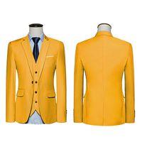 2018 nuevos hombres de la llegada Traje Blazer Hombres Color Sólido de moda Blazer Casual Masculino Un botón Blazer trajes Novio vestido de boda