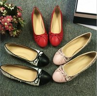 Designer Classic Beige Black red Flats Women ballet Loafers ...