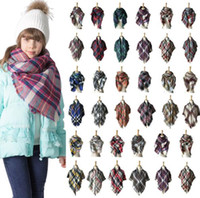 100*100cm Kids Plaid Scarf Baby Tassel Scarves Boy Girls Sha...