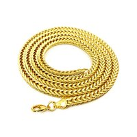 High quality 24K Yellow Gold Plated Snake Chain Necklaces 75...