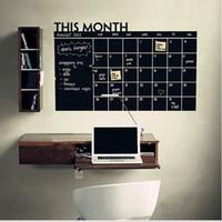 Bu Ay Duvar Sticker Aylık Planı Blackboard Çıkartmaları Takvim Kara Tahta Duvar Çıkartması Dekor DIY Ofis Ev Çocuk Odası için 60 * 90 cm