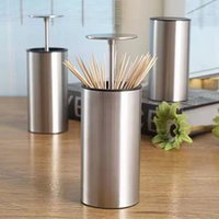 NEW Retractable Stainless Steel 304 Toothpick Holder Dispens...
