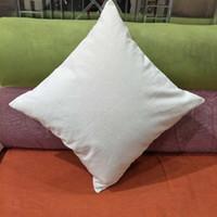 Boş 12 oz doğal pamuk kanvas yastık kılıfı 18 * 18in ham pamuk tuval DIY boş yastık kapak doğrudan fabrikadan