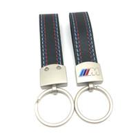 Für BMW M Sport E46 E39 E60 F30 E90 F10 F30 E36 X5 E53 E30 E34 X1 X3 Auto Styling Leder Chrom Schlüsselanhänger Schlüsselanhänger