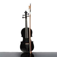 악기 Beautifull 1/2 사이즈 어쿠스틱 바이올린 케이스 Bow Rosin 학생 초보자를위한 블랙 컬러