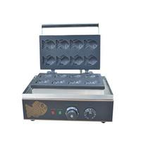 Qihang üst Küçük balık şekli Taiyaki makinesi / mini taiyaki Yapma Makinesi / Kore taiyaki waffle makinesi makinası fabrikası fiyat