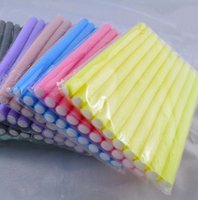 10 pezzi morbida spugna della gomma piuma del rullo dei capelli di plastica Bigodini Curling Flexi Rods Bendy Sticks Striscia Salone di Acconciatura strumento Cura Spedizione
