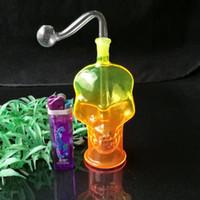 Couleur spray crâne os pot, Accessoires en verre Bongs Accessoires, pipe à eau en verre fumer, Livraison gratuite