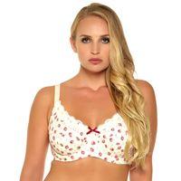 b25b96ecc Mulheres Sexy Sutiã Impressão Floral Sem Forro Push Up Cup Plus Size 34 36 38  40 42 44 46 C D Dd Ddd E