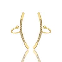 SPLENDIDA VENDITA 2017 Trendy Style Fashion Jewelry Orecchini a clip geometrica per le donne CZ Crystal Earring Ear Cuff BFF Regalo di nozze