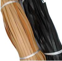 ZXZ 3 Meter 10mm Flache Schwarze / Natürliche Echte Lederband Schnur 10x2mm String Spitze Tanga Für Schmuck, die Entdeckungen