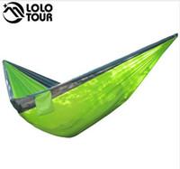 320 * 200 cm Ultra-Grande 2-3 Pessoas Sleeping Parachute Hammock Cadeira Hamak Jardim Balanço Pendurado Ao Ar Livre Hamacas Camping 125 * 78 ''