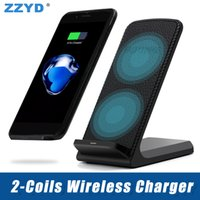 ZZYD For iPhone X S8 Wireless Charger Fast Qi Charging Stand...