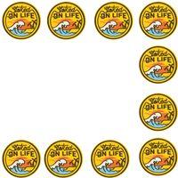 PATCH POUR VÊTEMENTS COUCHER BRODERIE Applique Badge Badge Stripes Fer sur patch pour vêtements Veste Manteau sur la vie Accessoires de surf 10 pcs